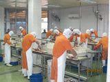 楊氏水産加工場の原鰻割き場