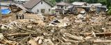 土砂災害復旧の目途が立たない広島市安芸区の災害現場