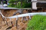 島根県浜田市で365�と史上最高雨量