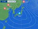 29日午前9時の予想天気図