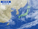 28日朝5:00の衛星画像