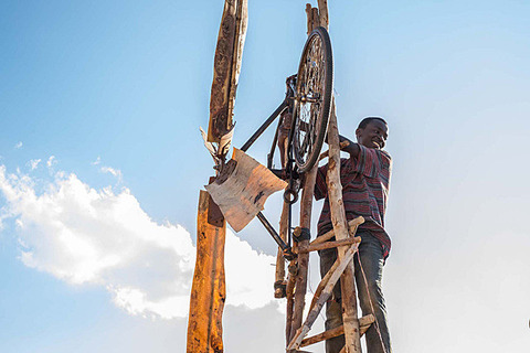 harnessed wind