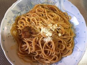 ナスとパンチェッタのトマトソース