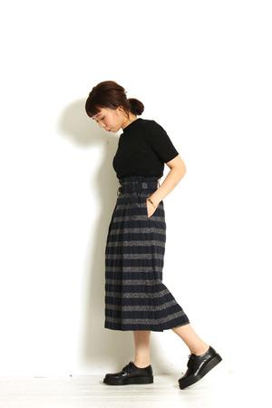 Border Skirt ♡ + near.nippon