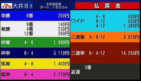 大井8R結果画像