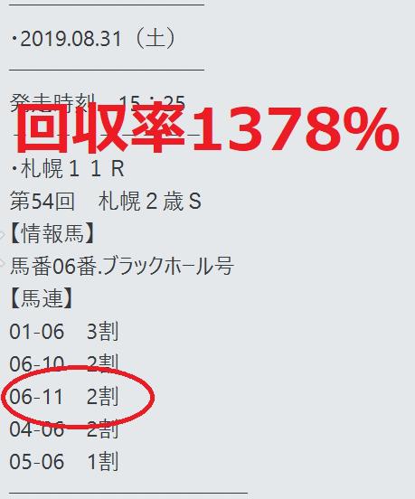 札幌2歳S買い目