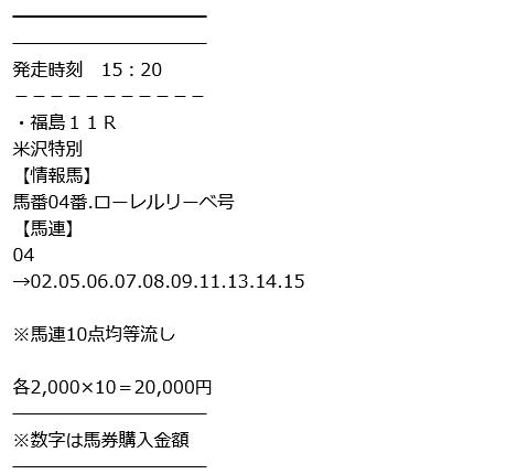 福島11R(勝負レース)
