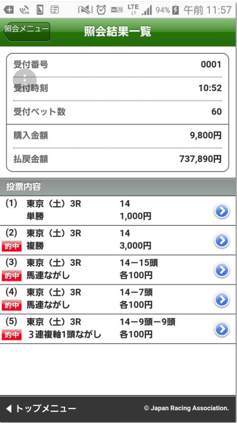 東京3RS氏情報馬1番