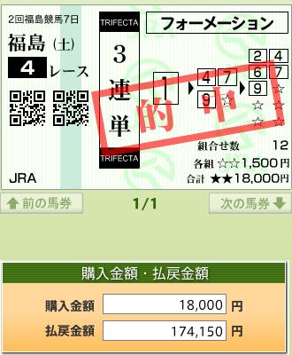 中京4R障害オープン