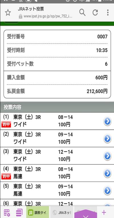 東京3RS氏情報馬5