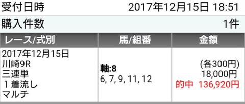 川崎9R追加馬券