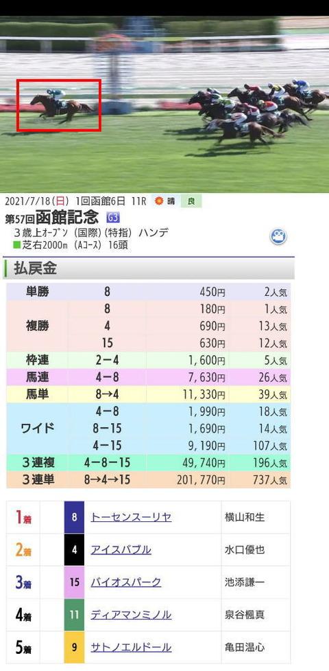 第57回函館記念トーセンスーリア
