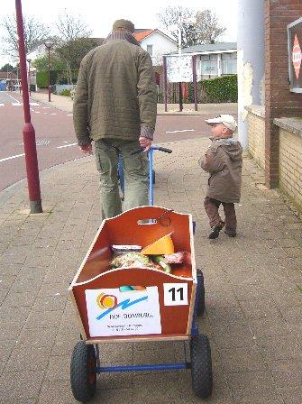 オランダのスーパーの帰りの風景