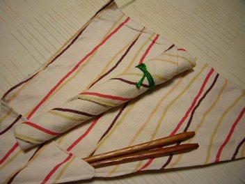 手作り箸袋入りマイ箸