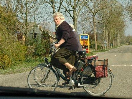 オランダの自転車おばちゃん