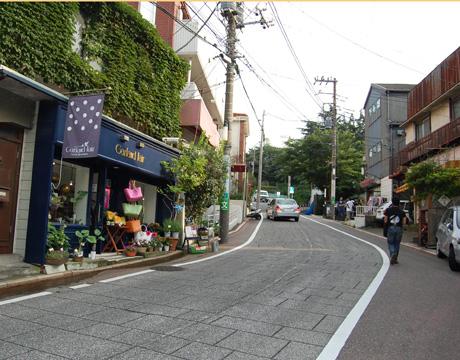 元町の坂道