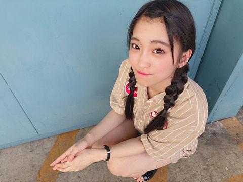 SKE48森平莉子さんの写真を見て「デコ出し三つ編みでばりかわいいけん!」