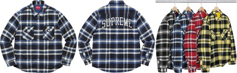 Supreme-Quilted-Arc-Logo-Flannel-Shirt