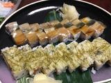 十々八の押し寿司2種