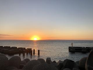 黒部海岸の夕陽2