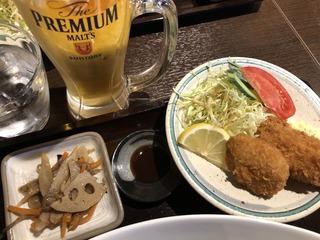 八ぶんめ定食とビール