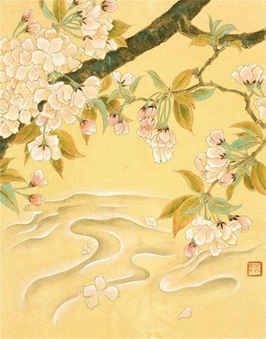 桜花流水図 のコピー
