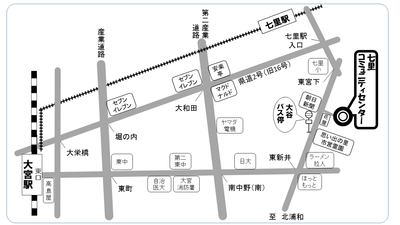 七里コミセン地図