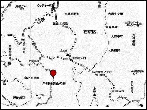 芸術の森地図
