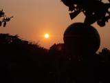 夕日とみかん