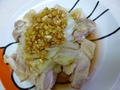 蒸し焼き鶏の香味ダレ