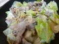 豚とキャベツの味噌バター炒め