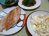 鮭のバターソテーとコールスロー