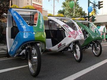古町界隈にいるという噂の『ベロ(自転車)タクシー』