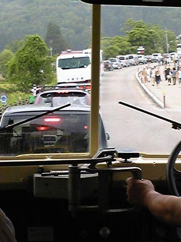 大内宿の渋滞