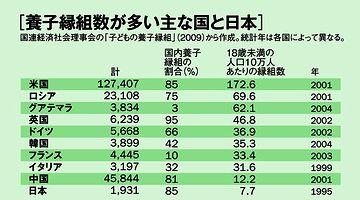 やはり日本は、実子にこだわりがあるようです