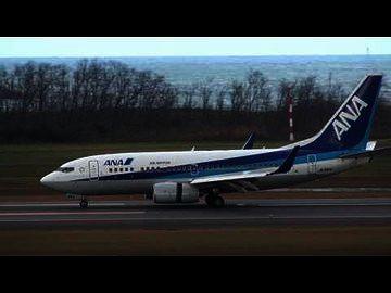 新潟空港、着陸