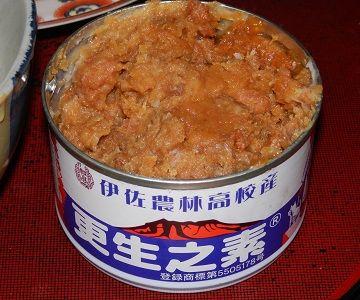 『秘密のケンミンSHOW』でも紹介された豚味噌の缶詰
