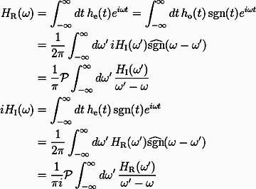クラマース・クローニッヒの関係式