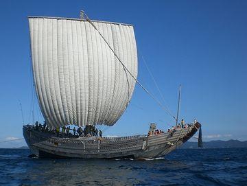 復元された北前船『みちのく丸』