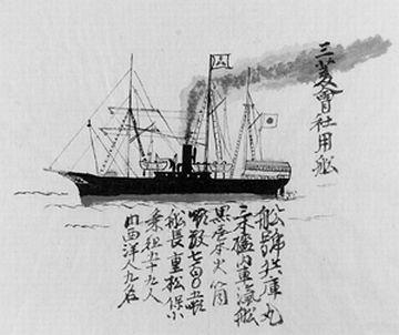 明治6年には、当時の開拓使という官庁が、汽船を就航させてます