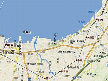 野内(のない)駅を過ぎると、青森湾に沿って北上します