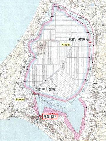 八郎潟・防潮水門