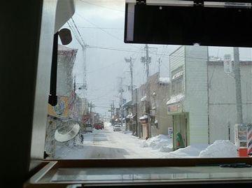 代行バスの車窓風景