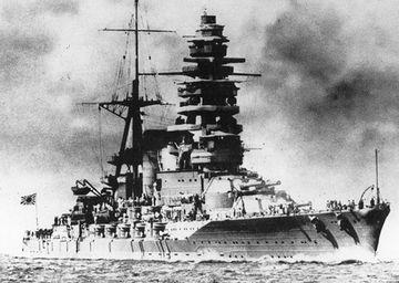 『戦艦陸奥』。昭和18年6月8日、謎の爆発により山口県柱島沖で沈没。