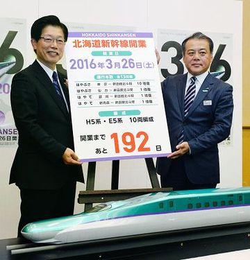 その日って確か、北海道新幹線の開業日ですよね