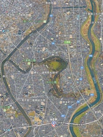 磐線『金町駅』の北側には、広大な『都立水元公園』