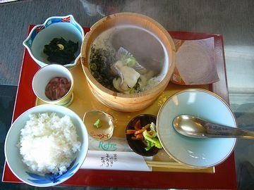 入道崎で食べた石焼き鍋、美味しかった