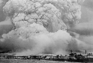 村を襲う火砕流