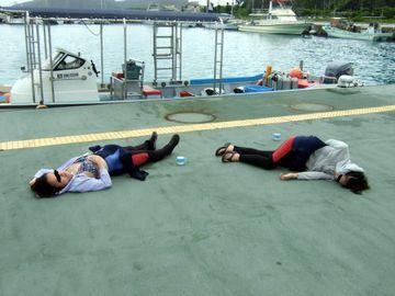 船酔いなさるお客さまは、多いもので