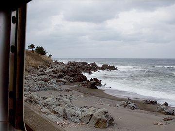 海は、座席の左側に見えるってこと